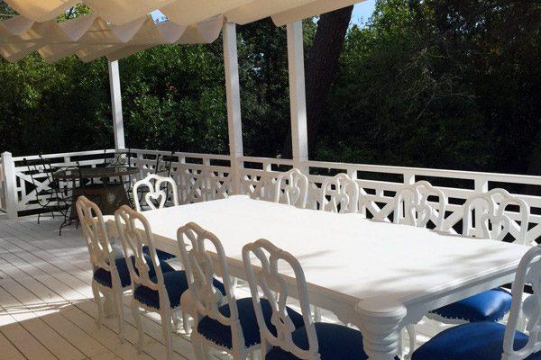 Toile d'ombrage pour terrasse par l'Atelier du Comte Emporain